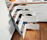 More storage using a larger cabinet depth - Blum - Albury Wodonga Kitchens